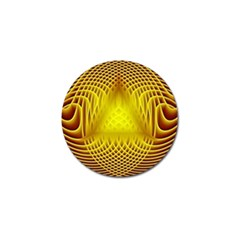 Swirling Dreams Yellow Golf Ball Marker (10 pack)