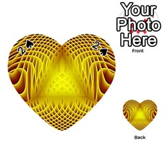 Swirling Dreams Yellow Playing Cards 54 (Heart)