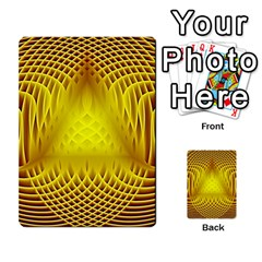 Swirling Dreams Yellow Multi Purpose Cards (rectangle)