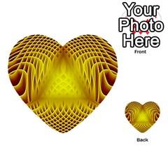 Swirling Dreams Yellow Multi Purpose Cards (heart)