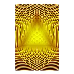 Swirling Dreams Yellow Shower Curtain 48  x 72  (Small)