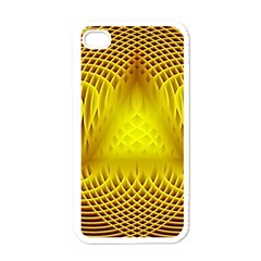 Swirling Dreams Yellow Apple iPhone 4 Case (White)