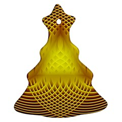 Swirling Dreams Yellow Christmas Tree Ornament (2 Sides)