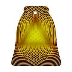 Swirling Dreams Yellow Bell Ornament (2 Sides)