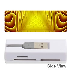 Swirling Dreams Yellow Memory Card Reader (Stick)
