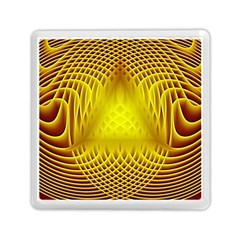 Swirling Dreams Yellow Memory Card Reader (Square)