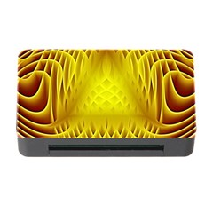 Swirling Dreams Yellow Memory Card Reader with CF