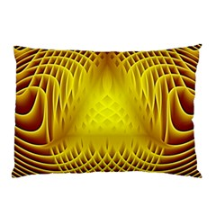 Swirling Dreams Yellow Pillow Cases (Two Sides)