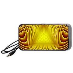 Swirling Dreams Yellow Portable Speaker (Black)