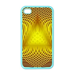 Swirling Dreams Yellow Apple iPhone 4 Case (Color)