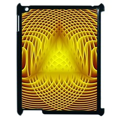 Swirling Dreams Yellow Apple iPad 2 Case (Black)