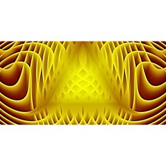 Swirling Dreams Yellow YOU ARE INVITED 3D Greeting Card (8x4)