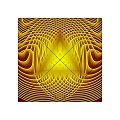 Swirling Dreams Yellow Acrylic Tangram Puzzle (4  x 4 )