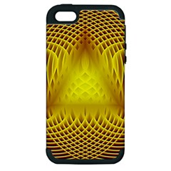 Swirling Dreams Yellow Apple iPhone 5 Hardshell Case (PC+Silicone)