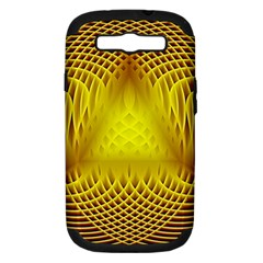 Swirling Dreams Yellow Samsung Galaxy S III Hardshell Case (PC+Silicone)