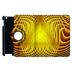 Swirling Dreams Yellow Apple iPad 2 Flip 360 Case
