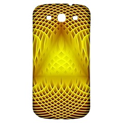 Swirling Dreams Yellow Samsung Galaxy S3 S III Classic Hardshell Back Case