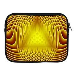Swirling Dreams Yellow Apple iPad 2/3/4 Zipper Cases