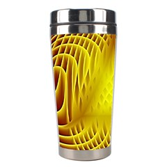 Swirling Dreams Yellow Stainless Steel Travel Tumblers