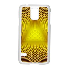 Swirling Dreams Yellow Samsung Galaxy S5 Case (White)
