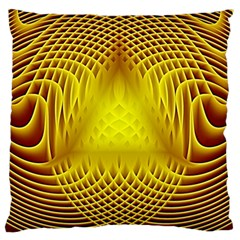 Swirling Dreams Yellow Standard Flano Cushion Cases (Two Sides)