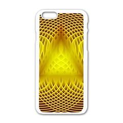 Swirling Dreams Yellow Apple iPhone 6/6S White Enamel Case
