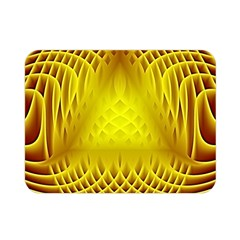 Swirling Dreams Yellow Double Sided Flano Blanket (mini)