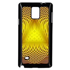 Swirling Dreams Yellow Samsung Galaxy Note 4 Case (Black)