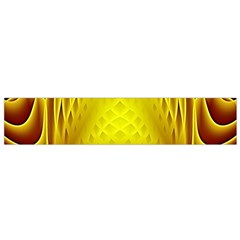 Swirling Dreams Yellow Flano Scarf (Small)
