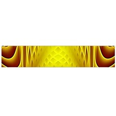 Swirling Dreams Yellow Flano Scarf (large)
