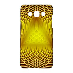 Swirling Dreams Yellow Samsung Galaxy A5 Hardshell Case
