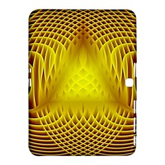 Swirling Dreams Yellow Samsung Galaxy Tab 4 (10.1 ) Hardshell Case