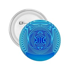 Swirling Dreams, Aqua 2.25  Buttons