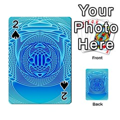 Swirling Dreams, Aqua Playing Cards 54 Designs