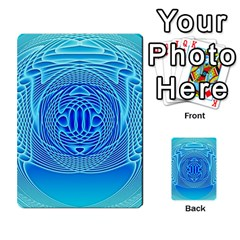Swirling Dreams, Aqua Multi-purpose Cards (Rectangle)