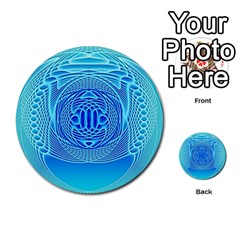 Swirling Dreams, Aqua Multi Purpose Cards (round)
