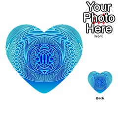 Swirling Dreams, Aqua Multi-purpose Cards (Heart)