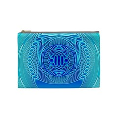 Swirling Dreams, Aqua Cosmetic Bag (Medium)