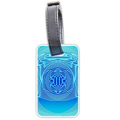 Swirling Dreams, Aqua Luggage Tags (Two Sides)