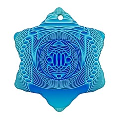 Swirling Dreams, Aqua Ornament (snowflake)