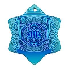 Swirling Dreams, Aqua Snowflake Ornament (2 Side)