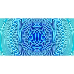 Swirling Dreams, Aqua YOU ARE INVITED 3D Greeting Card (8x4)