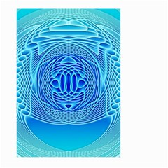 Swirling Dreams, Aqua Large Garden Flag (two Sides)
