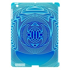 Swirling Dreams, Aqua Apple iPad 3/4 Hardshell Case (Compatible with Smart Cover)