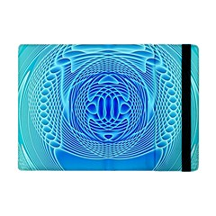 Swirling Dreams, Aqua Apple iPad Mini Flip Case