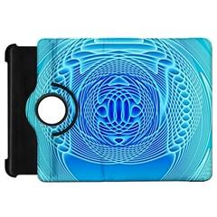Swirling Dreams, Aqua Kindle Fire HD Flip 360 Case