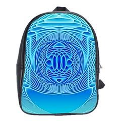 Swirling Dreams, Aqua School Bags (XL)