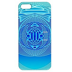 Swirling Dreams, Aqua Apple iPhone 5 Hardshell Case with Stand