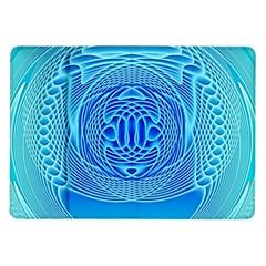 Swirling Dreams, Aqua Samsung Galaxy Tab 10.1  P7500 Flip Case