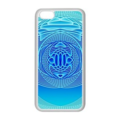 Swirling Dreams, Aqua Apple iPhone 5C Seamless Case (White)